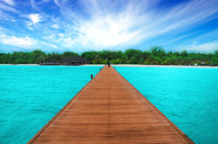 Path on the ocean, Maldives Royalty Free Stock Photography
