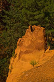 The path of the ochre near Roussillon,France Stock Photo