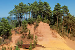 Path of the Ochres in Roussillon Royalty Free Stock Photos