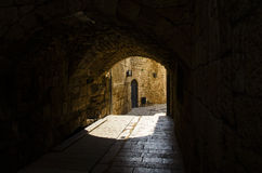 A path of the old city of Acre Stock Images