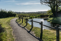 Path in the Olonne swamp. Vendee, France Royalty Free Stock Images