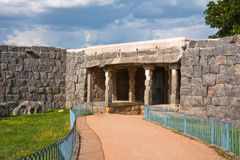 Path out of Gingee Fort. Path leading out of Gingee Fort in Tamil Nadu, India Stock Photos
