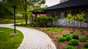 Path outside the Nature Center at Wildwood Park, Harrisburg, Pen Stock Photography