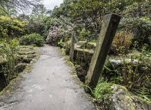 Path over bridge to garden Royalty Free Stock Photos