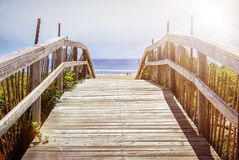 Path over sand dunes Royalty Free Stock Photography