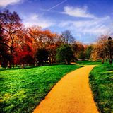 Path. In a park in london england uk,in a spring day afternoon Royalty Free Stock Photo