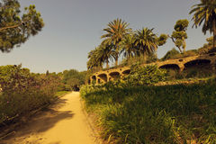 Path Park Guell Royalty Free Stock Photos