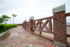 Path in park by the sea. Was taken in xiamen, gulangyu island, fujian province,the park by sea Royalty Free Stock Image
