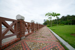 Path in park by the sea. Was taken in xiamen, gulangyu island, fujian province,the park by sea Royalty Free Stock Photo