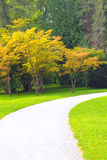 Path in a Peaceful Landscape Garden Stock Photo