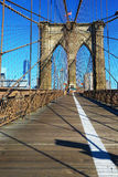 Path for pedestrians on Brooklyn Bridge Stock Photography