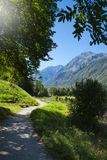 Path in Pyrenees mountains in the south of France Royalty Free Stock Images