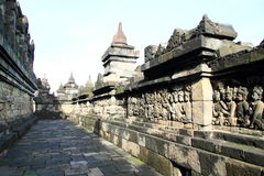 Path and railings on Borobudur Royalty Free Stock Photography
