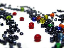 Path of red beads Royalty Free Stock Images