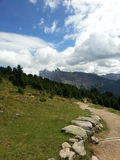 Path in Resciesa mountain Royalty Free Stock Photography