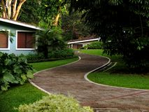 Path on a resort royalty free stock photos