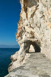 Path through the rock, Greece Royalty Free Stock Photography