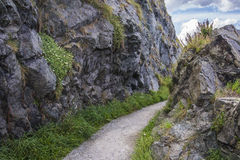Path through the rocks Royalty Free Stock Images