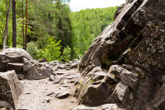 Path among the rocks. northern nature Stock Images