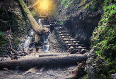 Path through rocky canyon Royalty Free Stock Images