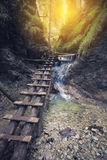 Path through rocky canyon Royalty Free Stock Photography