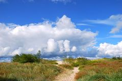 Path through the sand dunes. A path through the sand dunes to the sea. Nida, travel Europe Stock Photography