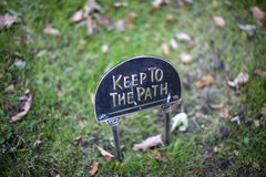 Path sign Royalty Free Stock Photography