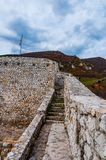Path in the fortress of Travnik stock images