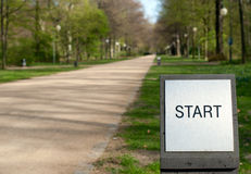Path with start sign Stock Images