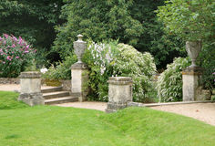 Path and Steps in an English Country Garden Royalty Free Stock Photo