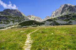 Path leading to the summits Royalty Free Stock Photo