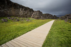 Path in thingvellir national park, Iceland Stock Image