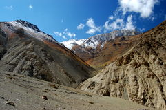 Path though Ladakh valley. A path though valley of Ladakh in Indian himalaya Stock Photos