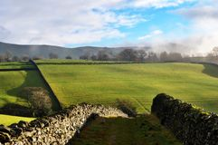 Path Through Dry-stone Walls, Staveley Stock Photography