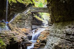 Free Path Through Small Falls In Finger Lakes, USA Royalty Free Stock Photos - 192886968