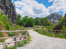 The path to the ancient Roman Quarry, near Carrara. Stock Images