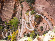 Path to Angels Landing in Zion national park Stock Photography