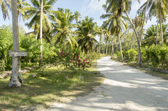 Path to Anse Source d'Argent beach, la Digue, Seychelles Stock Photos
