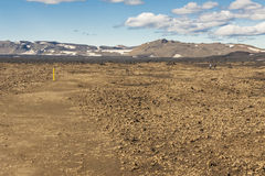 Path to Askja - Iceland. Royalty Free Stock Photos