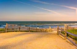Path to the Atlantic Ocean in Atlantic City, New Jersey. Royalty Free Stock Photo