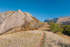 Path to Bald Ivan mountain at autumn season Royalty Free Stock Photo