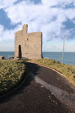 Path to ballybunions old castle ruins royalty free stock photos