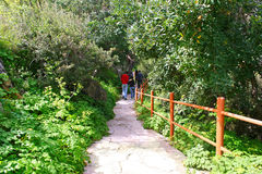 Path to the baths of Aphrodite Royalty Free Stock Photos
