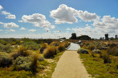 Path to the Bay of Port Philip. Stock Images