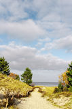 Path to the beach. Stock Photos