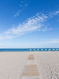 The path to the beach Alicante, Costa Blanca Stock Image