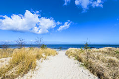 Path to the beach at the Baltic Sea Royalty Free Stock Photos