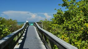 Path to the beach stock footage