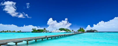 Path to beautiful island. In sunny day Royalty Free Stock Images