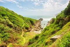 Path to beautiful rocky beach Royalty Free Stock Photos